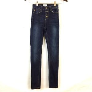 Hudson jeans high rise button fly girls 10 stretch